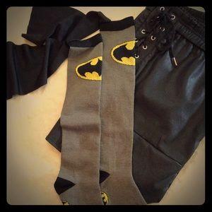 Knee-Hi Batman Logo Socks